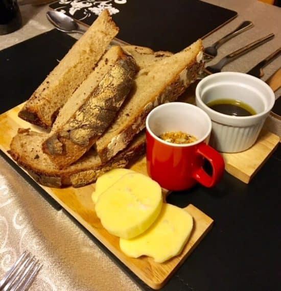 Sourdough Rye Bread with Cornish butter and Cornish Seasalt