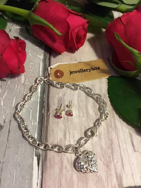 Jewellery Box Charm Bracelet and earrings