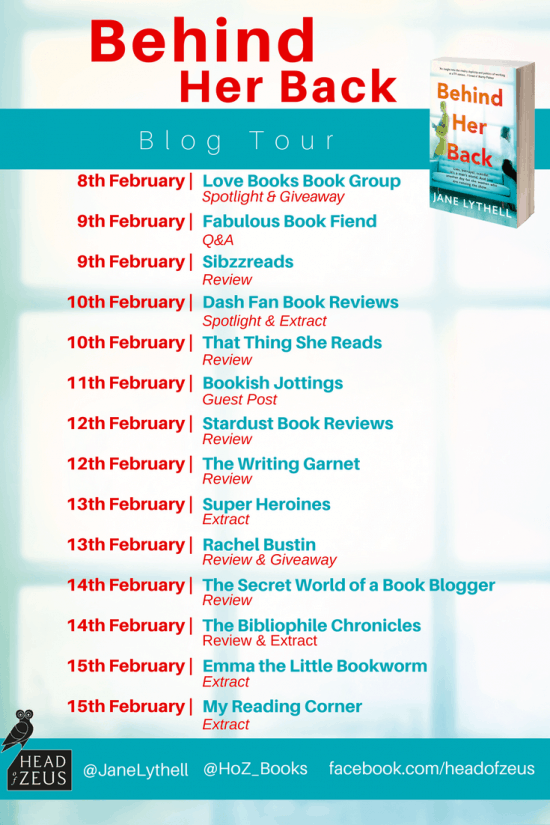 Behind Her Back Blog Tour