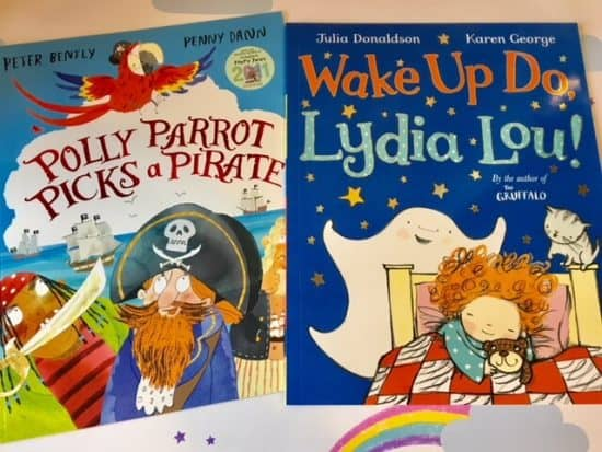 Picture Books - Polly Parrot picks a pirate and Wake up do Lydia Lou
