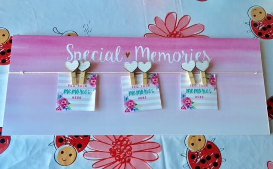 Special Memories peg board