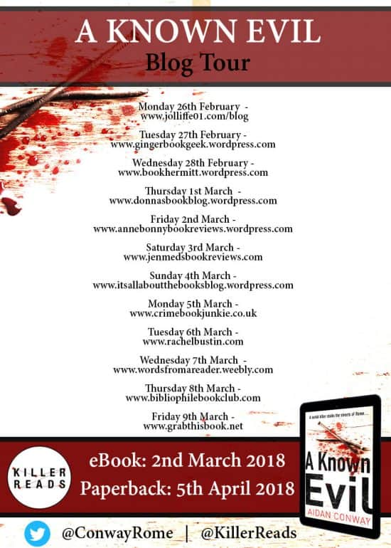 Blog Tour - A Known Evil