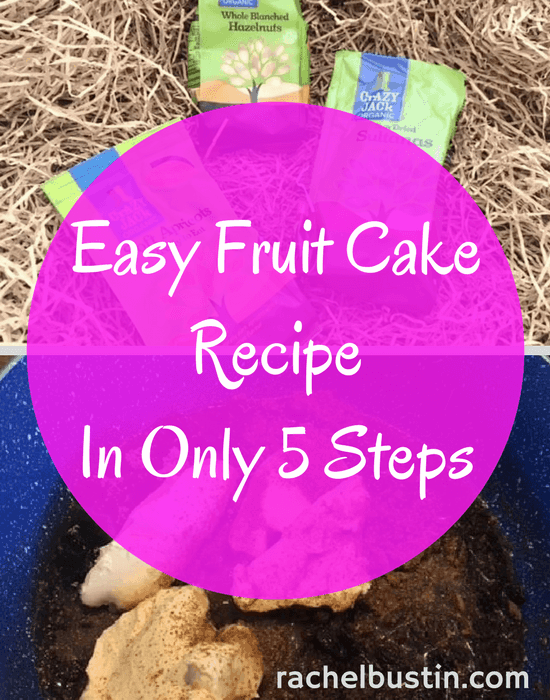 Easy Fruit Cake Recipe in only 5 steps