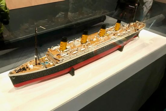 A replica model of the Titanic