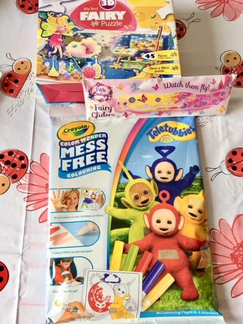 Shopping haul from PoundToy - Crayola Teletubbies Colour Wonder Colouring Set