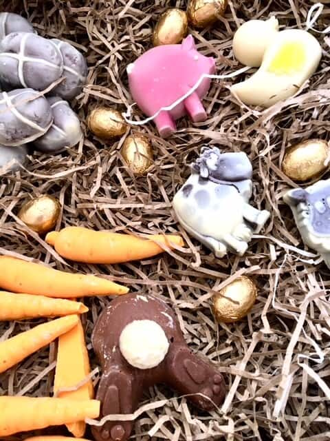 Choc on choc Easter chocolates