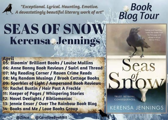 Book Blog Tour Poster Seas of Snow Kerensa Jennings