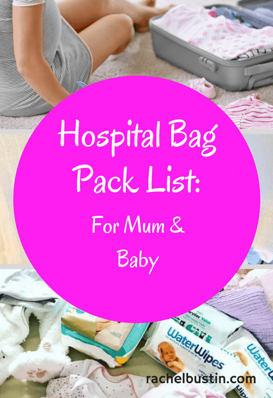 Hospital Bag Pack List - For mum and baby