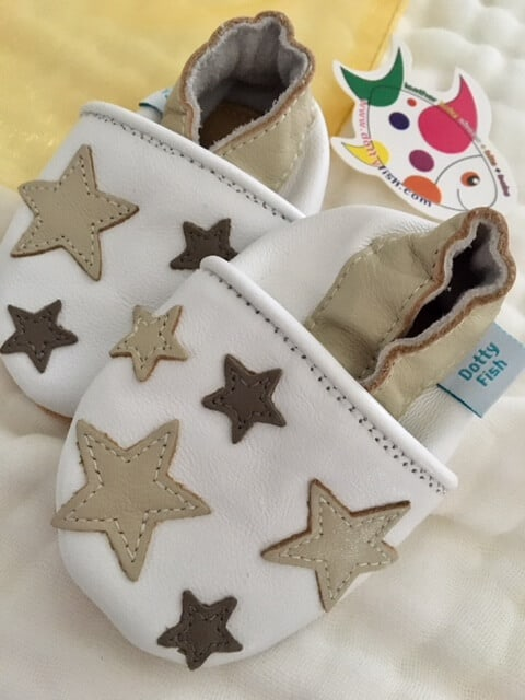 Dotty Fish soft leather walker shoe