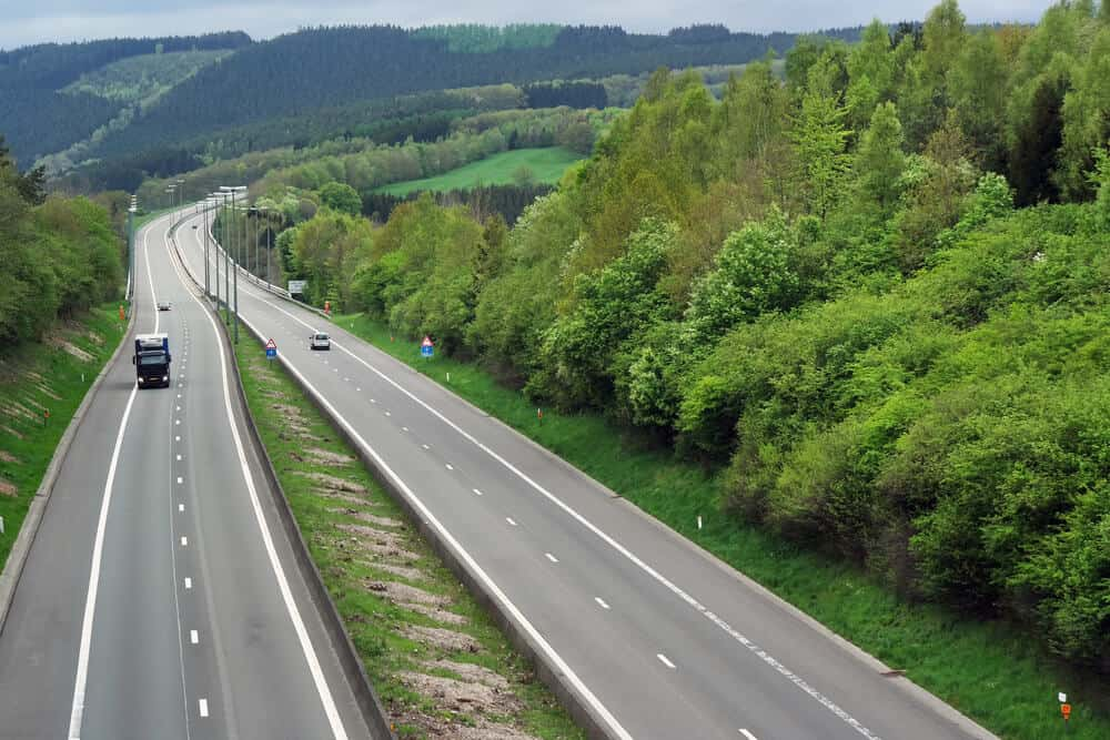 Highway E42 Ardennes Forest