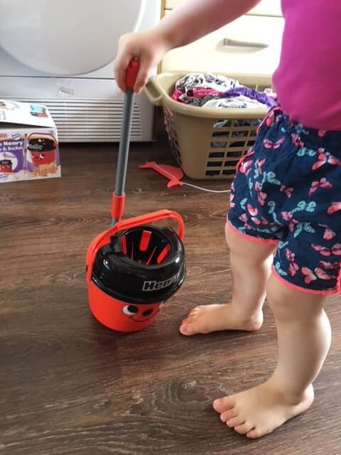 Real life fun and play with Casdon - little henry mop and bucket