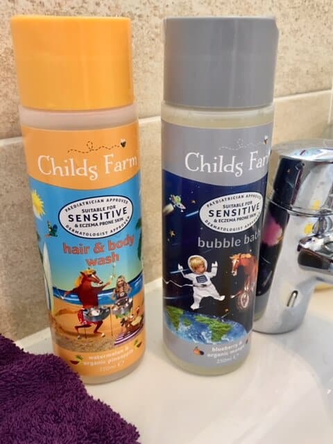 childs farm bath products