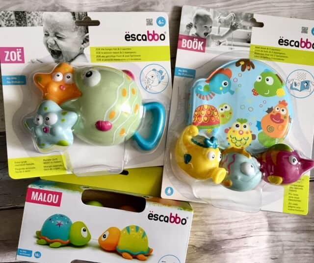Escabbo bath toys