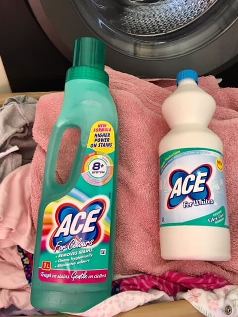 Washing Clothes with ACE - Review Ace Stain remover review