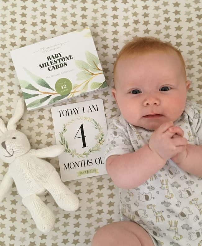 Natural Design Baby Milestone Cards Review and Giveaway