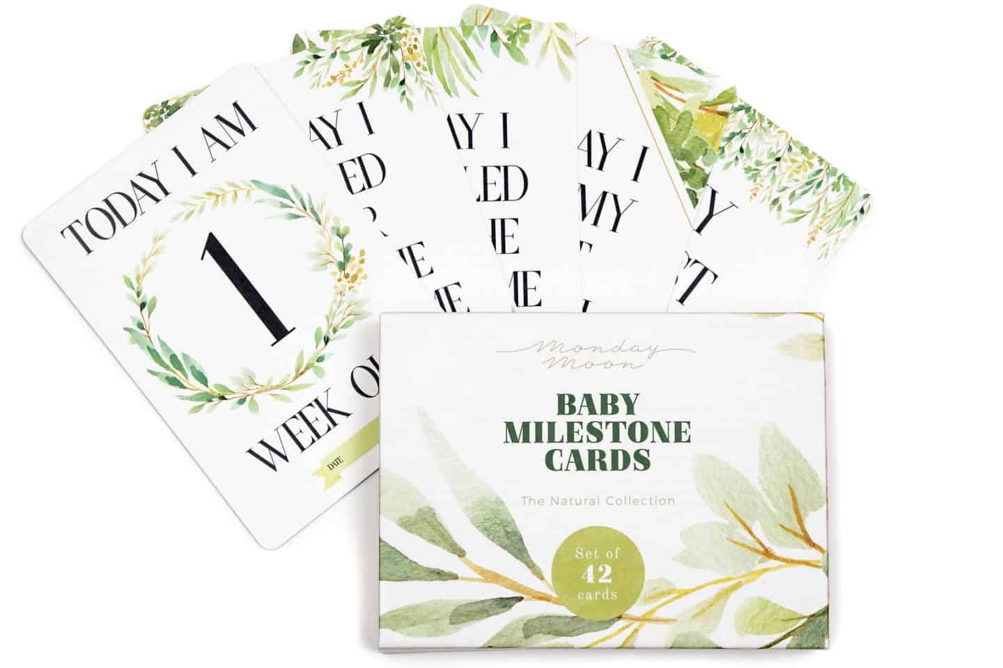 Monday Moon Baby Milestone Cards Review and Giveaway