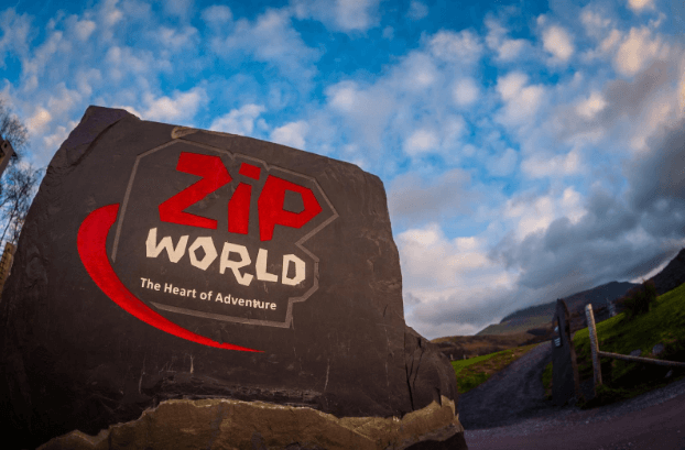 Zip World sign in North Wales