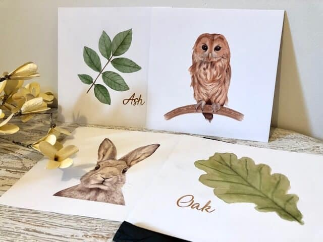 Woodland nursery prints