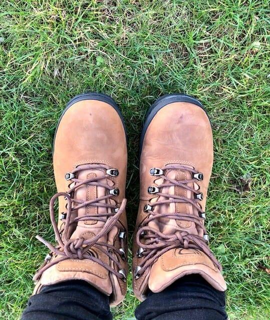 Women's brown walking boots