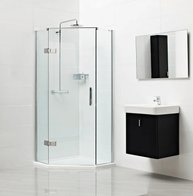 designing a small bathroom - shower