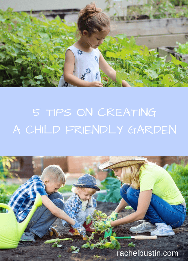 5 TIPS ON CREATING A CHILD FRIENDLY GARDEN - Are you looking to child proof your garden? Check out these tips to make your garden child safe. Tips to make a secure area for the kids to play in. #gardenideas #gardendesign #childrensplayarea