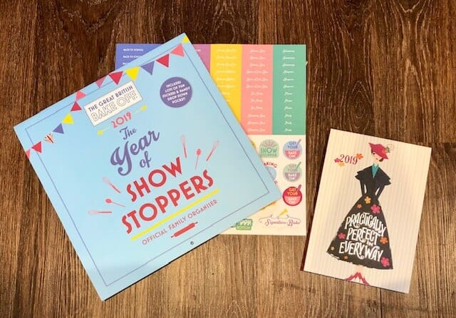 Getting Prepared for 2019 - The Year of Showstoppers calendar and Mary Poppins 2019 diary
