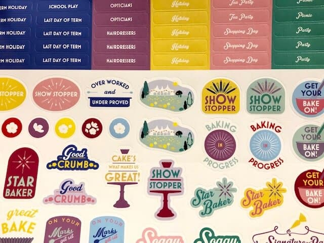 Sticker sheet included in The Year of the Show Stoppers family organiser