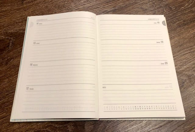 2019 Practically Perfect In Every Way Diary pages