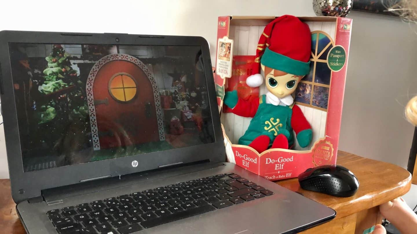 Video Calling Santa Claus with Portable North Pole (PNP)