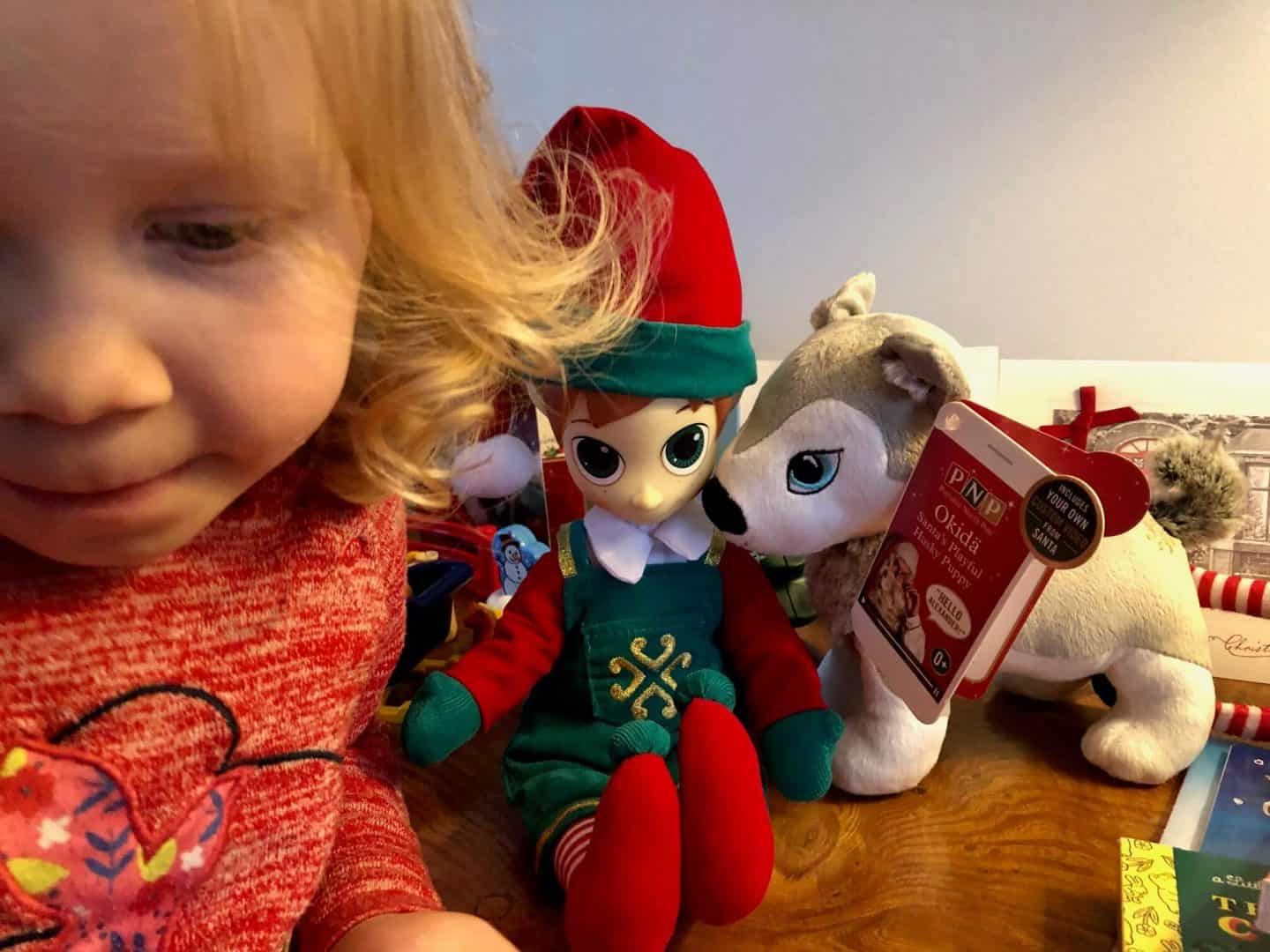 Video Calling Santa Claus with Portable North Pole (PNP) - Elf and Husky toys
