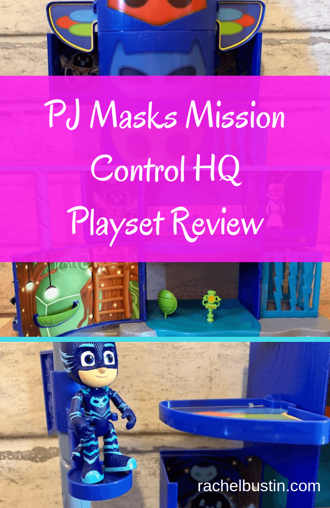 The PJ Masks Mission Control HQ Playset is three levels of action packed fun! Kids will love recreating the adventures of their favourite night-time heroes, the PJ Masks! This dynamic playset starts out as the iconic PJ Masks totem pole Headquarters as seen in the show and then opens to reveal three levels of kid-powered features that will keep aspiring heroes entertained for hours! Capture villains with the secret trap door and lightning bolt cage, and plan PJ Masks missions with the light and sounds control panel that plays phrases from the show!