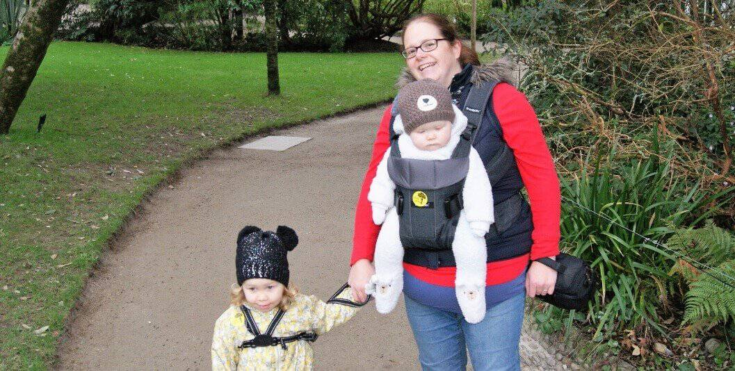 Things we've enjoyed in January - Rachel and the girls at Heligan Gardens