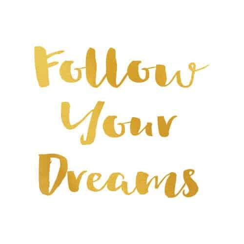 follow your dreams - rachelbustin.com