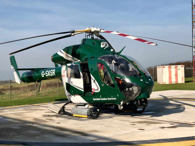 Cornwall Air Ambulance Blue Light Day