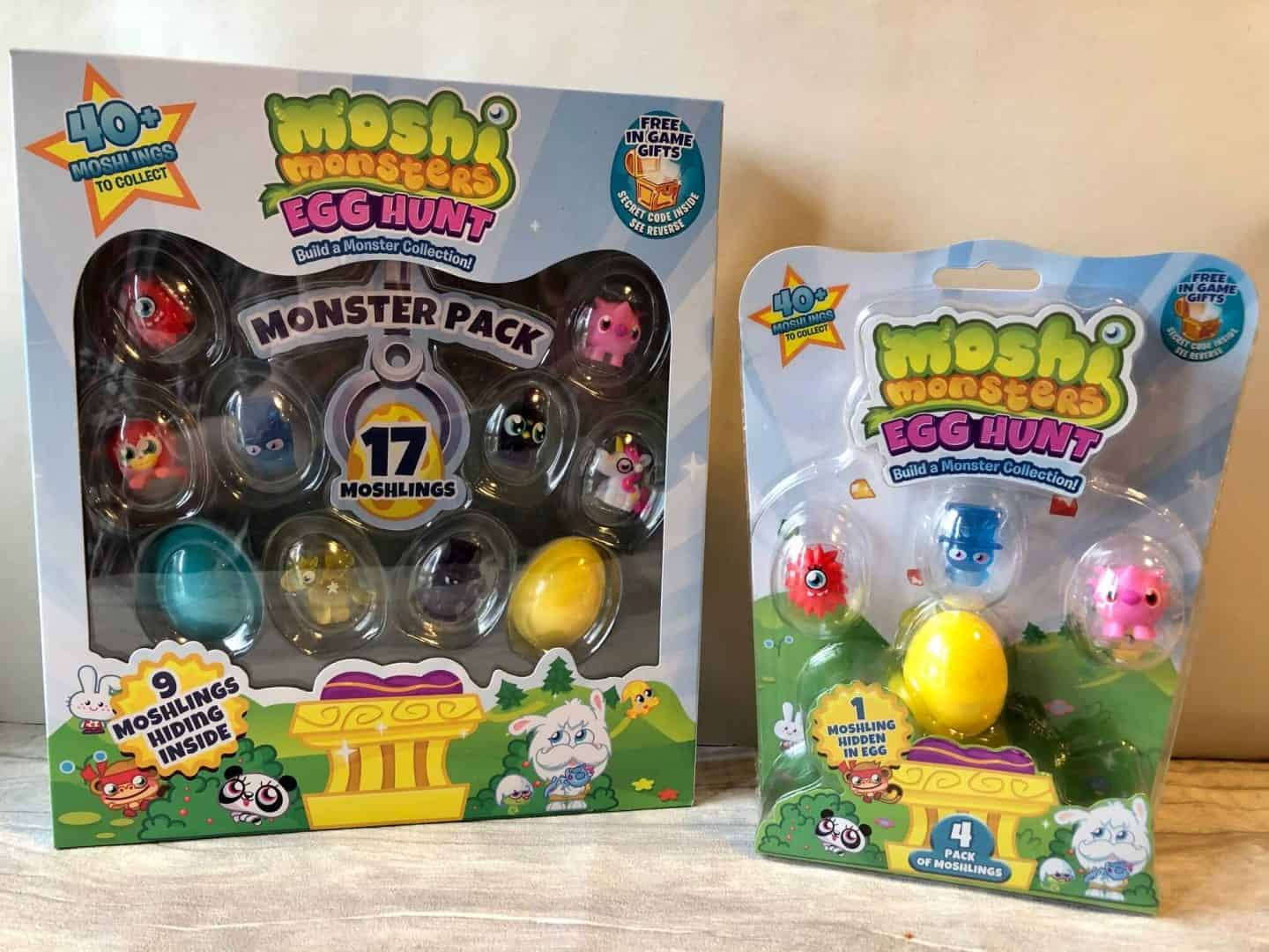 Moshi Monsters Egg Hunt 4 pack and monster pack