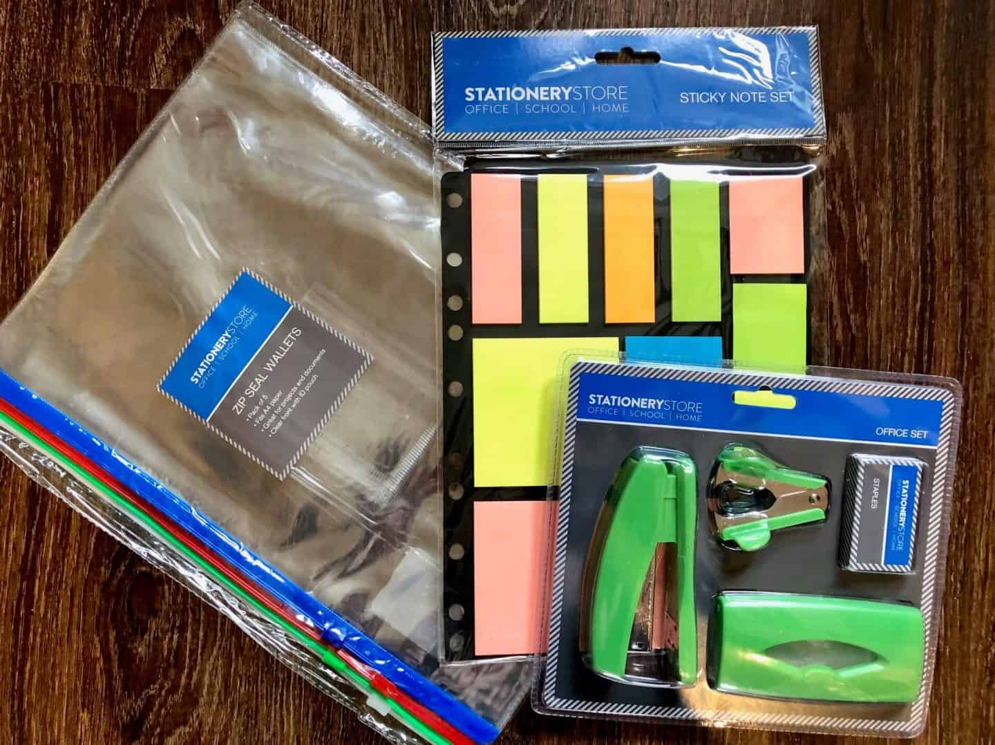 home bargains stationery store