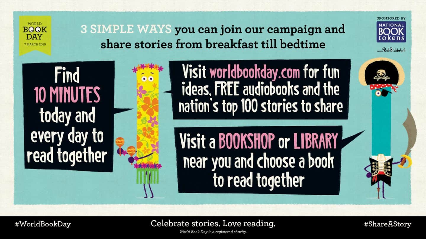 World Book Day - 3 simple ways to share a story & celebrate WBD