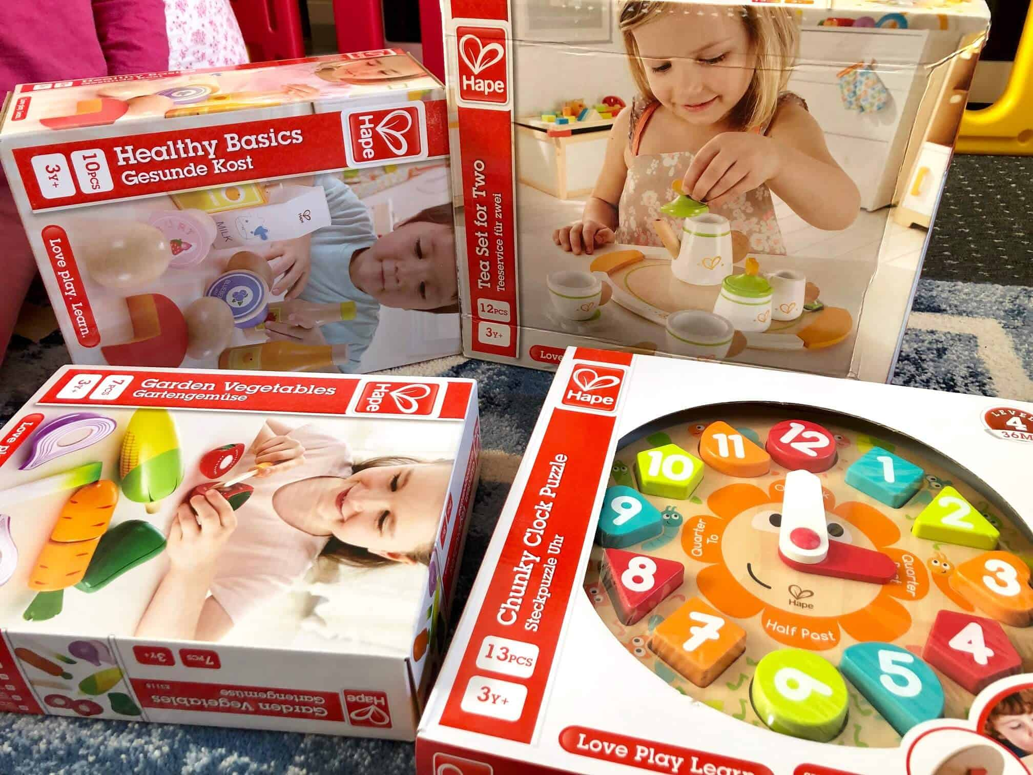Cook up a Storm with Hape's Kitchen and Food Range - wooden toy range