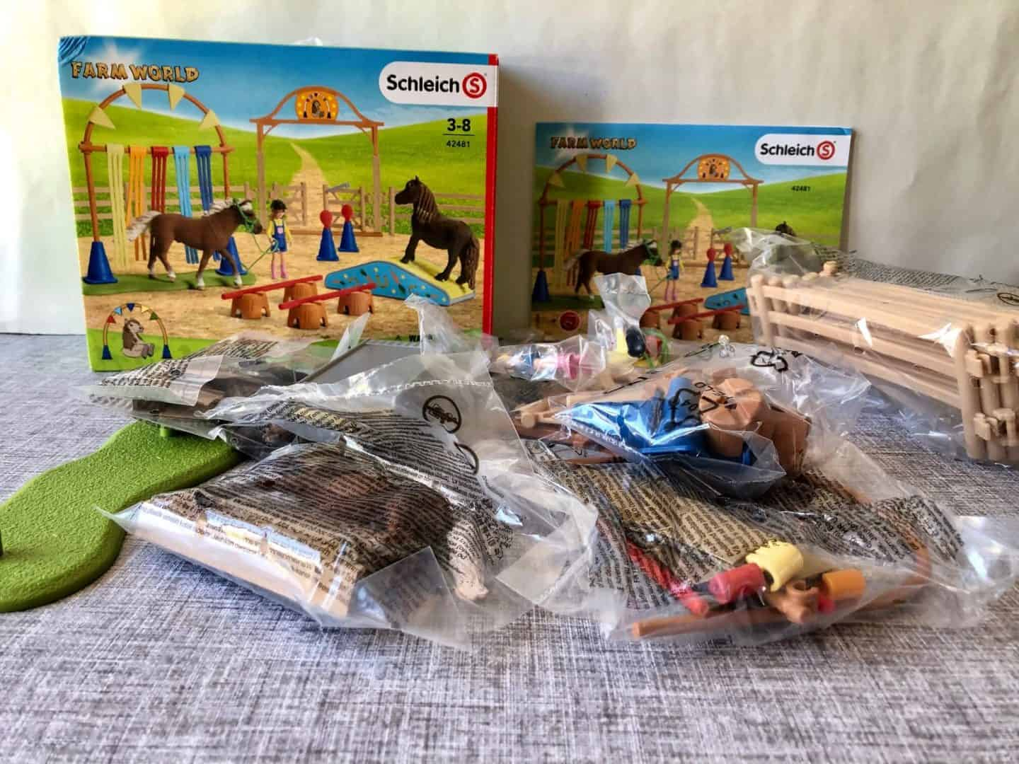 Schleich Pony Agility Training Play Set Review packaging