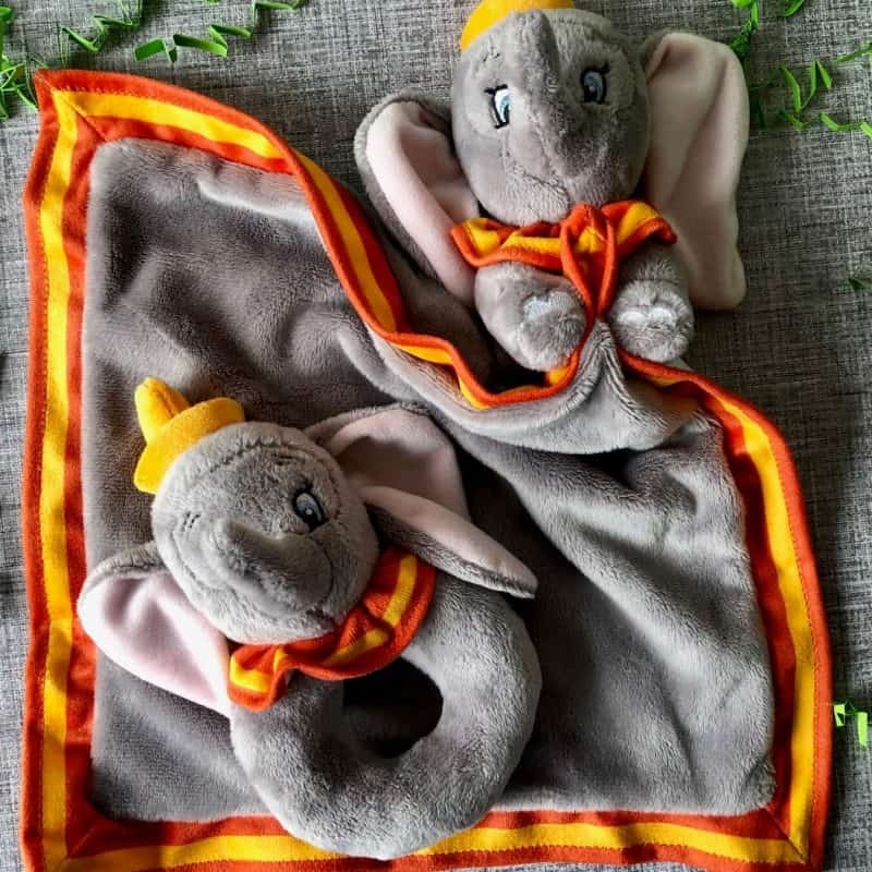 Disney Dumbo Baby ring rattle and comforter