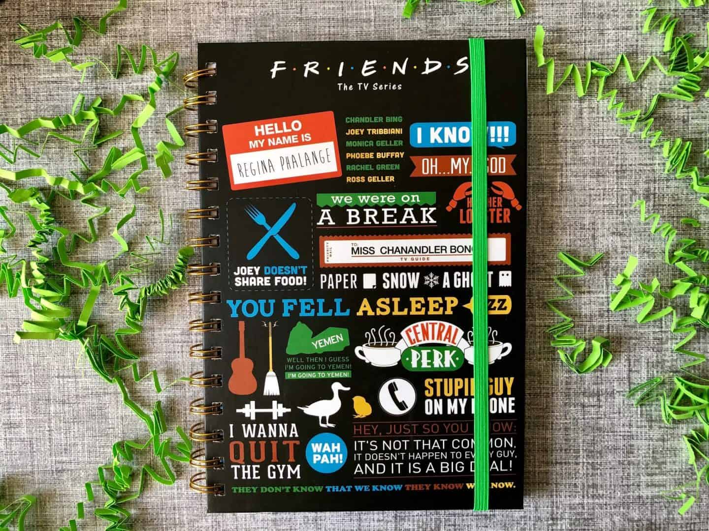 FRIENDS  quote notebook