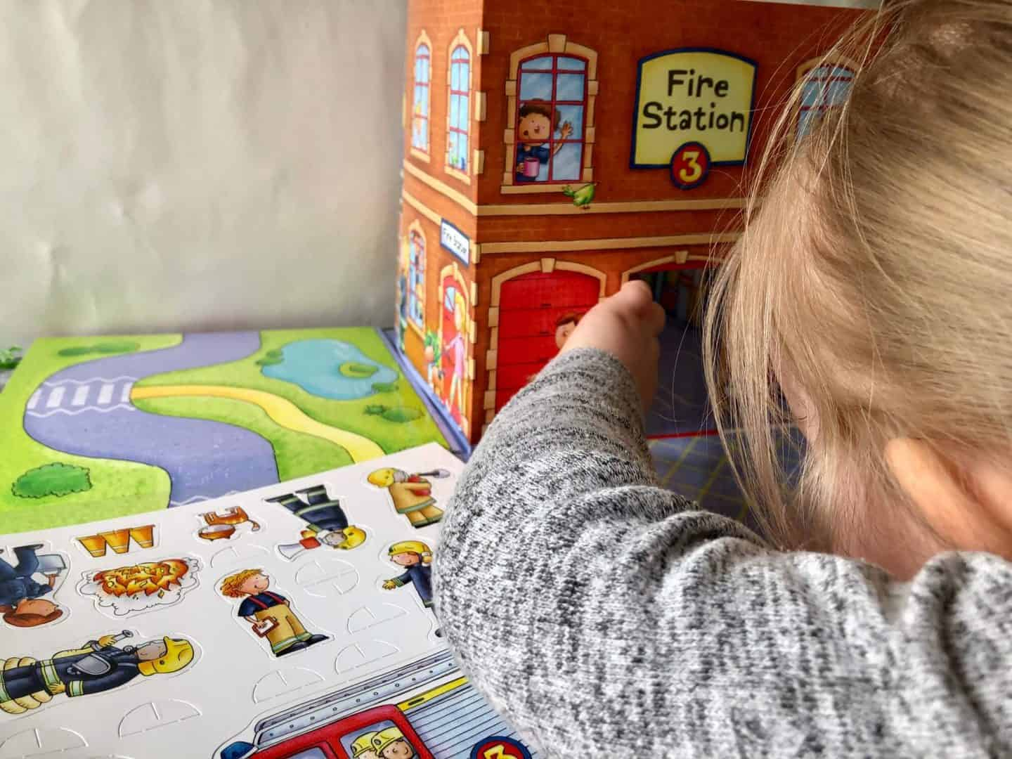 Fire Station Playmat and story book