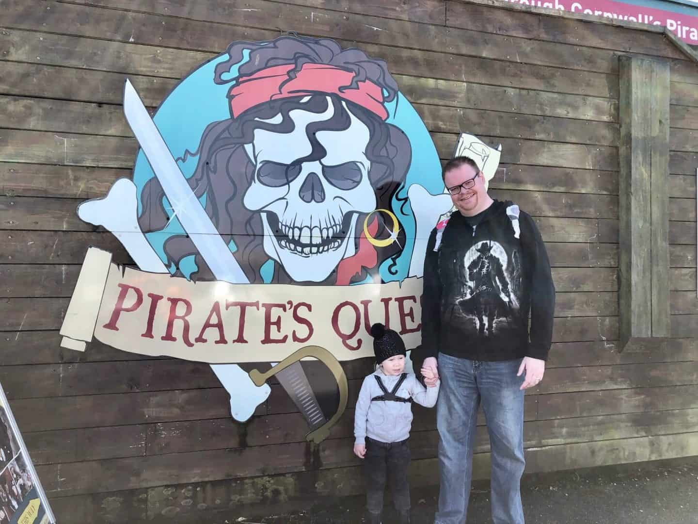 Outside at Pirates quest Newquay Cornwall