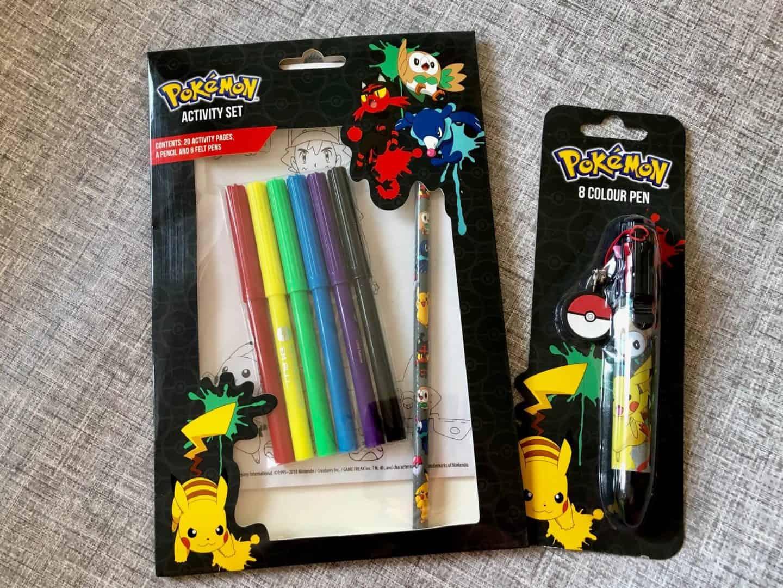Pokemon stationery activity set and pen