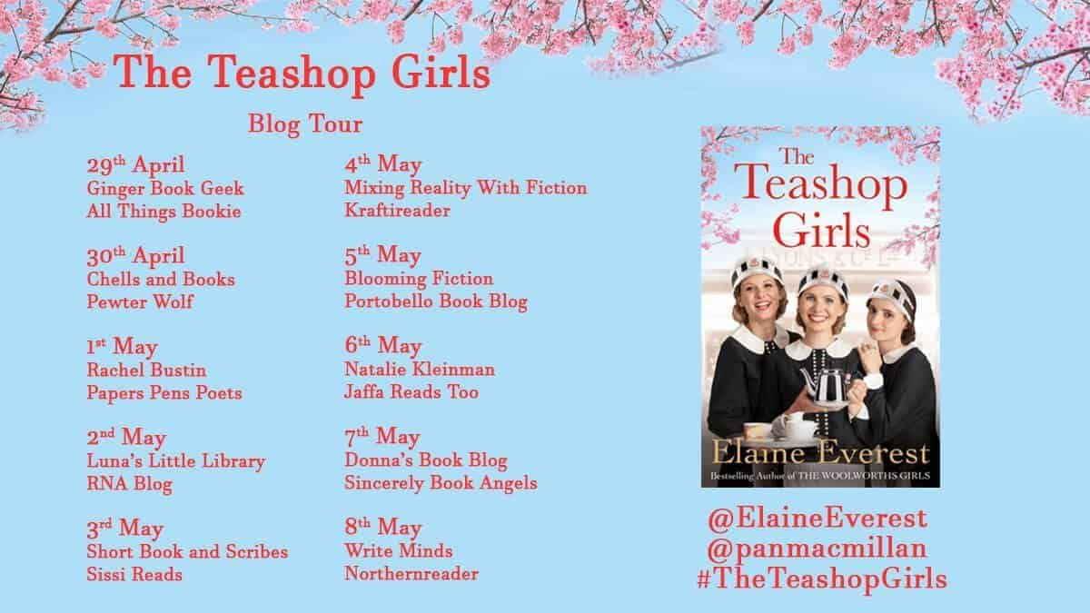 The Teashop Girls blog tour banner