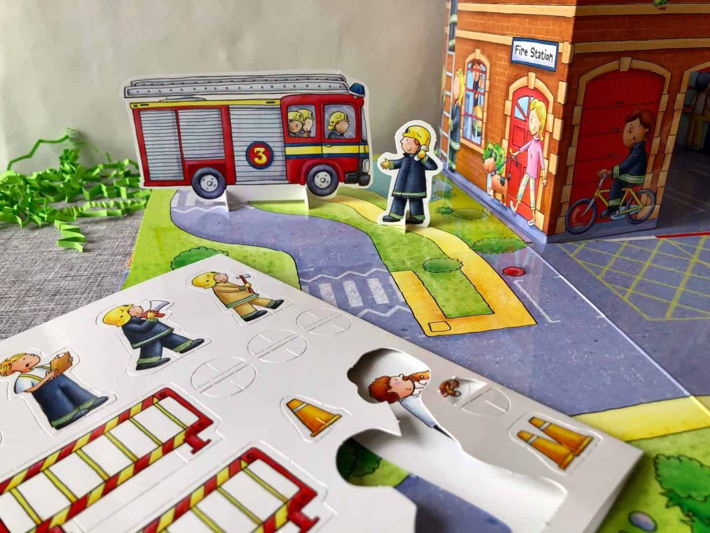 fire engine with cut out figures