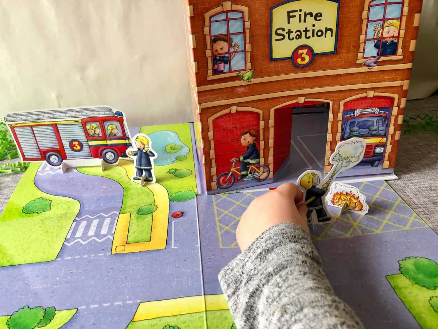 imaginative play with fire station