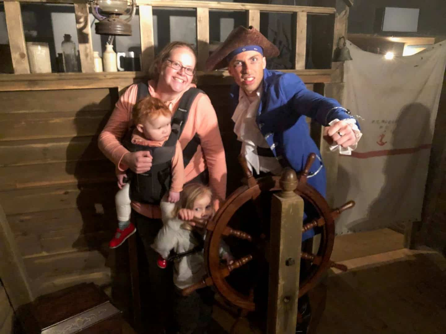 picture with a cornish pirate at pirates quest newquay