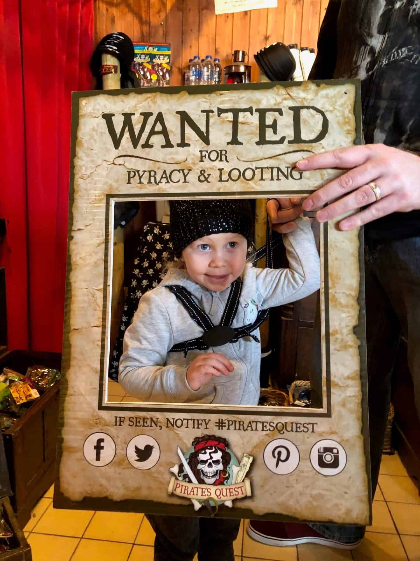 wanted poster at pirates quest