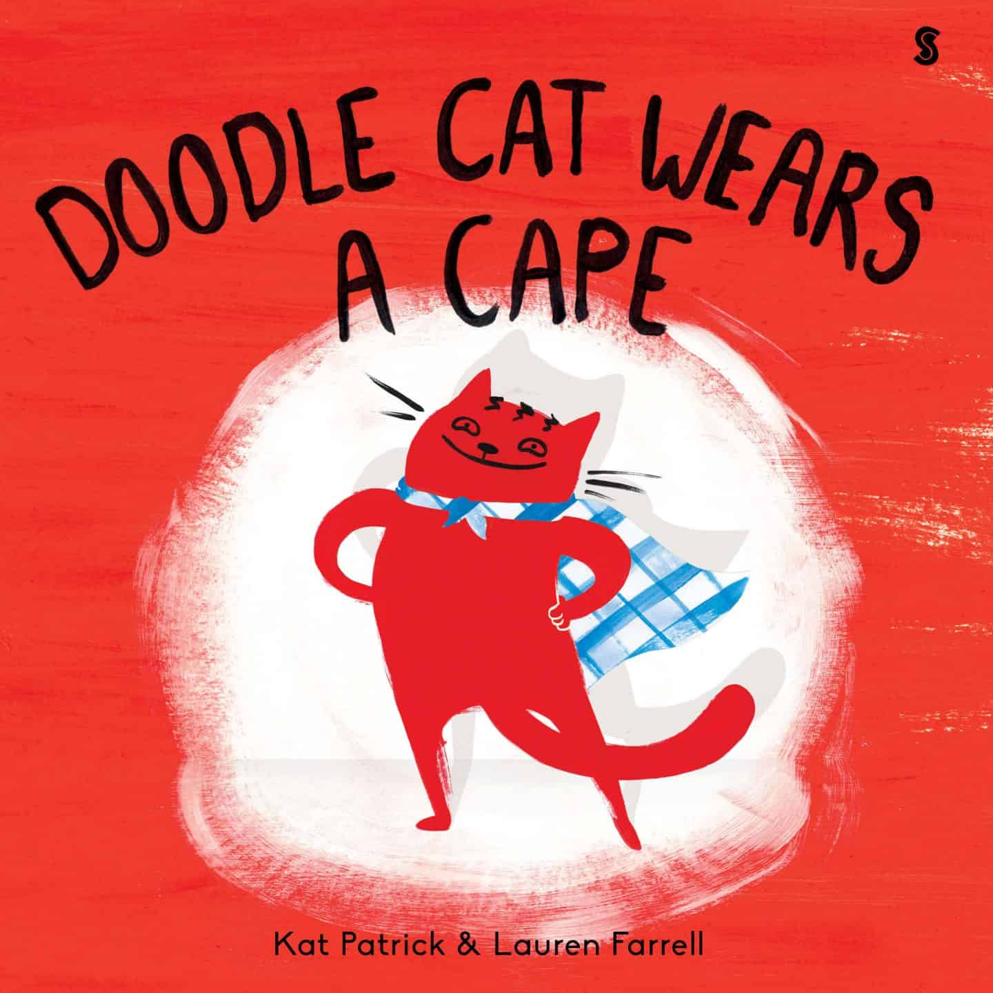 Doodle Cat Wears A Cape - book cover